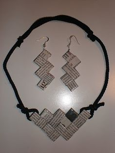 crafty jewelry with recycling paper ideas - crafts ideas - crafts for | http://sweetbabydogs.blogspot.com