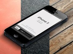 Download 3D View iPhone 5 Psd Vector Mockup