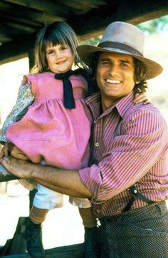 Michael Landon and Lindsey or Sidney Greenbush in Little House on the Prairie