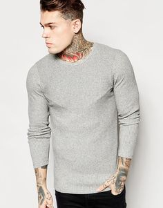 ASOS   ASOS Muscle Longline Long Sleeve T-Shirt With Cut & Sew Panels at ASOS Long A Line, Fashion Online, Asos, Men Sweater, Muscle, Turtle Neck, Sewing, Long Sleeve, Sleeves