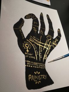 Items similar to Handpainted Palmistry Hand Fortune telling Occultism Witchcraft Magic Rare painting on Etsy Palmistry, Antique Shops, Anna, Antiques, Unique Jewelry, Handmade Gifts, Etsy, Vintage, Antiquities