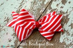 How To Make A Basic Boutique Bow - The Ribbon Retreat Blog