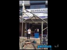 Proses pembuatan Tenda Payung untuk AMARIS Hotel