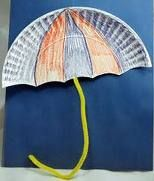 use for word wall? or sight words on umbrella. Simple idea for April craft with paper plate and pipe cleaner Classroom Art Projects, Preschool Projects, Preschool Letters, Daycare Crafts, Preschool Activities, Class Projects, Preschool Classroom, Classroom Ideas, Letter U Crafts