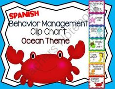 SPANISH Behavior Management Clip Chart Ocean Theme from Going Back To Kinder on TeachersNotebook.com (7 pages)  - This download includes a SPANISH Behavior Management Clip Chart with an Ocean Theme.   Just print, laminate and post!   Enjoy!    Created by Alma Almazan  www.goingbacktokinder.blogspot.com