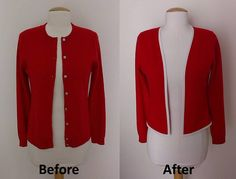 Converting a traditional cardigan ... interesting!