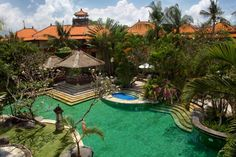 Garden Pool - Aerial view The Royal Beach Seminyak Bali (formerly Sofitel)