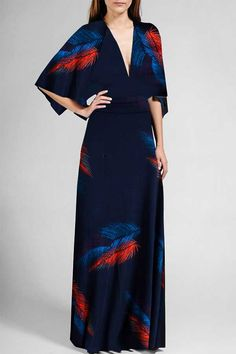 feather caftan dress - I've been thinking about this dress for a few days, and I've decided that I like it.