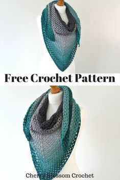 Hello lovelies! Today's crochet pattern is this lovely lacy granny triangle scarf which I absolutely loved crocheting! I used Scheepjes W...