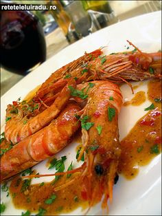 Black Tiger Prawns with spicy tomato sauce