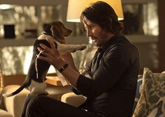 Keanu Reeves as John Wick with his sweet 8 week old puppy Daisy - adorable! :)