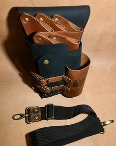 Premium Leather Shear Holster Hairdressers Bag Scissors