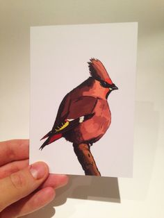 A personal favourite from my Etsy shop https://www.etsy.com/listing/232524482/garden-bird-waxwing