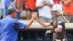 Aubree Munro recorded a career-high four RBI on Saturday.