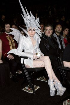 Major respect for this woman's totally wacky fashion sense. Gaga understands what it means to wear art!