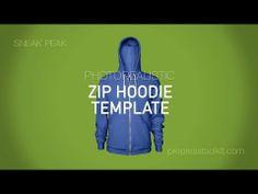 Product Sneak Peak Mens Zip Hoodie Template