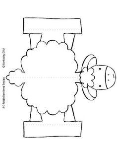 Farm Animal 3-D Foldable Templates, Old MacDonald Song Props