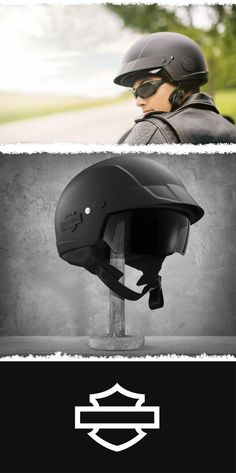 Features interchangable medallions so you can style your helmet to match your personality. | Harley-Davidson Cross Roads 1/2 Helmet