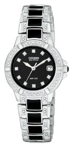 Women s Citizen Eco-Drive  Normandie  Watch with Swarovski Crystals in  Stainless Steel 0f220043d