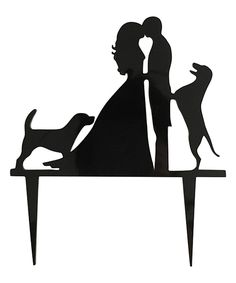 Take a look at this Bride, Groom & Dogs Cake Topper today!