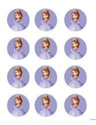 Sofia the first birthday cakes   Sofia The First Edible Image Cupcake Toppers 12 per Sheet   eBay
