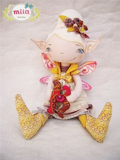 Karolina's doll bright fairy fabric doll with by SpecialEditionMM, $150.00