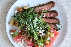 Flank Steak with Watermelon Salad  - Delish.com
