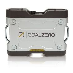 Goal Zero 11002 Sherpa 50 Battery by Goal Zero. $249.00. Lighten your load compact and expandable power to go. It's one thing to have power. And it's another to have it in a compact design that is easy to pack, light to carry and expandable to fit changing power needs. The Sherpa 50 takes the bulk out of rechargeable power and offers a lightweight yet durable way to bring power along with you. Less than two pounds, it's the ideal shape to pack in everything from backpacks to pan...