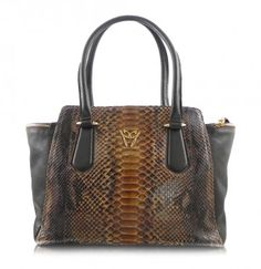 Ghibli Designer Snakeskin Python and NAppa Leather Handbags Trapeze Brown Bags #Ghibli #bagmadness
