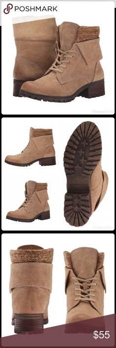 Lucky Brand booties Size 6.5 (36.5 Europe). Color: Sesame (light brown/beige). Leather upper. Rubber sole. New in box. Lucky Brand Shoes Ankle Boots & Booties