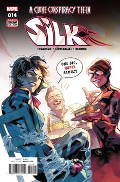 Clone Conspiracy Tie-In! -Silk isn't the first Spider-Woman J. Jonah Jameson has known. Mattie Franklin is back from the dead, but Silk isn't sure it's a good thing. Hulk, Captain America, Thor, Infamous Iron Man, Unbeatable Squirrel Girl, Deadpool, Silk Marvel, Old Man Logan, Comics
