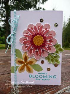 Megumi's Stampin Retreat, Stampin' Up! Flower Patch Photopolymer Stamp Set, Flower Fair Framelits,