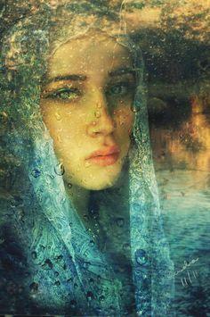 Through Sad Windows by Phatpuppyart, digital art, mixed media