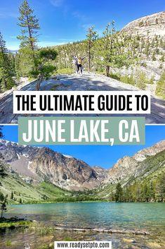 June Lake California, California Getaways, Lakes In California, California Mountains, California Camping, June Lake Camping, Tent Camping, Camping Stores, California Travel Guide