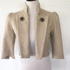 MASON WOOL CROPPED JACKET EUC. 80% wool, 20% nylon. Lining is 100% polyamide. Mason by Michelle Mason Jackets & Coats Blazers