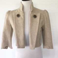 MASON WOOL CROPPED JACKET EUC. 80% wool, 20% nylon. Lining is 100% polyamide. Mason by Michelle Mason Jackets & Coats Blazers