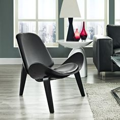 Modway Arch Lounge Chair in Black Black