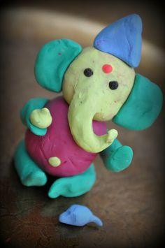 DIY Ganesha made from Plah-doh