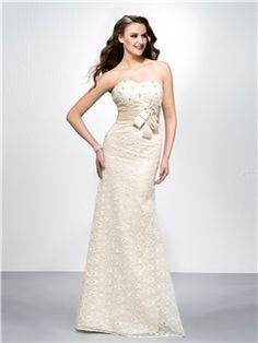 Sparkling Sweatheart Column Floor-length Bowknot Prom Dress