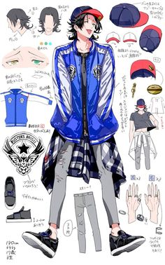 Boy Character, Character Drawing, Character Concept, Concept Art, Anime Outfits, Boy Outfits, Rap Battle, Manga Boy, Character Design References
