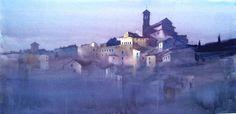 Manolo Jiminez Watercolor Artists, Watercolour Painting, Watercolors, Impressionist Paintings, Landscape Paintings, Landscapes, Murcia, City Scene, Great Paintings