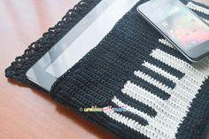 Crochet Piano Tablet Case