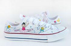 """Esencia Custome: Zapatillas personalizadas - Custom sneakers: Zapatillas personalizadas """" Ballet"""""""
