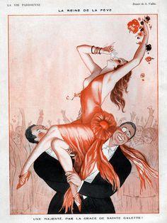 La Vie Parisienne 1920s    Art by A. Vallee