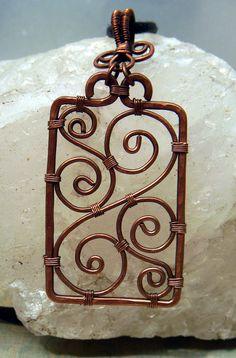 Victorian Scrollwork Filigree Style Pendant by WynterCreations, $35.00 #wirework #wirewrap #artjewelry #jewelry