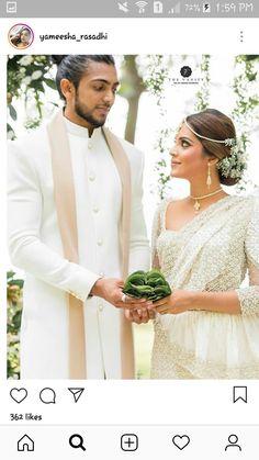 Bridal Sari, Bridal Wedding Dresses, Wedding Bride, Wedding Outfits, Blue Wedding, Christian Bridal Saree, Christian Bride, Engagement Dress For Groom, Sri Lankan Wedding Saree