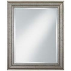 "Antiqued Silver Wood Frame 34"" High Wall Mirror"