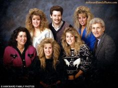 Awkward 80's family photos!  Hysterical!  Sadly enough I used enough Aussie myself to destroy the ozone single handily! Lol!!