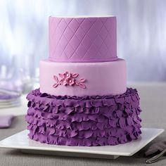 Radiant Orchid Cake | Pantone Color of the year |  Radiant Orchid Fondant from @Wilton Cake Decorating
