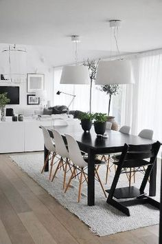 black and white dining room by michelle